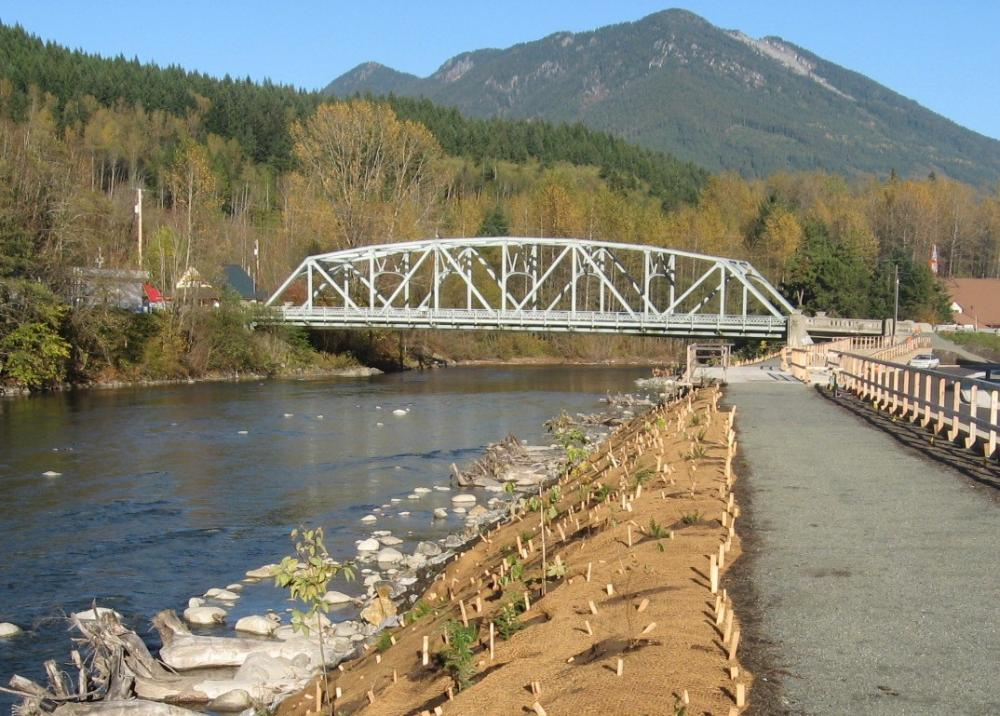 Shoreline mitigation planting and public-acess trail, Skykomish, Washington