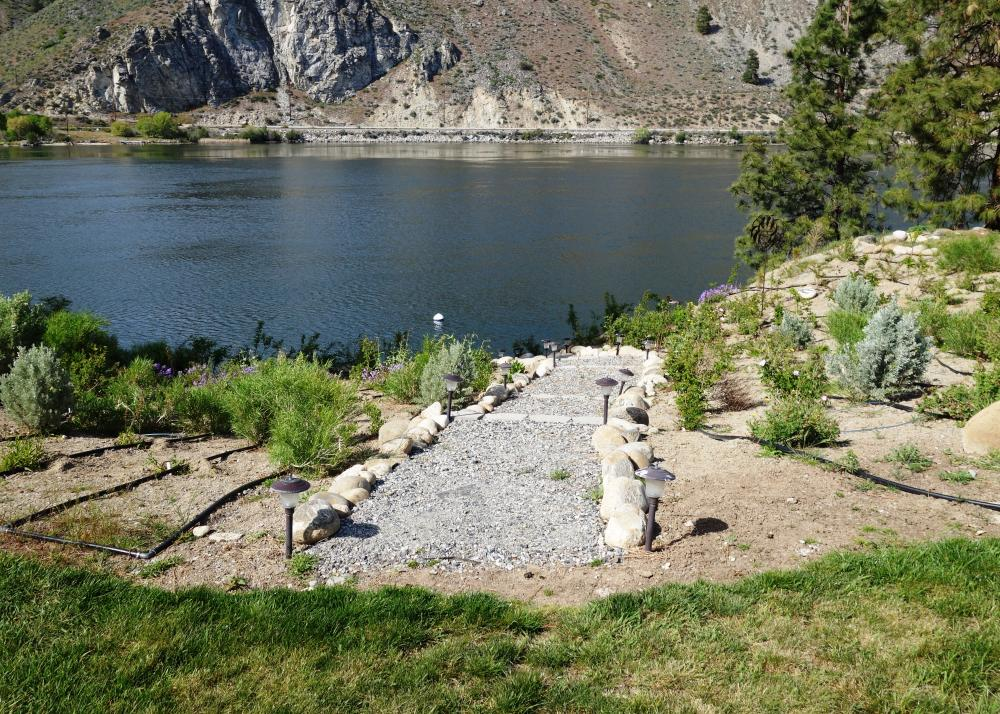 Residential shoreline habitat mitigation and access trail, Columbia River, Washington
