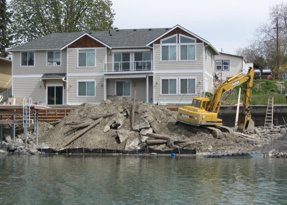 Construction and maintenance of shoreline structures on Lake Chelan